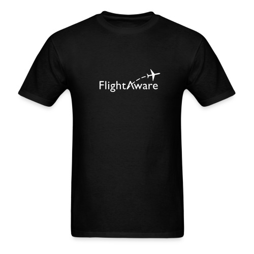 FlightAware Black Tee - Men's T-Shirt