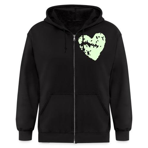 heart men's bf - Men's Zip Hoodie
