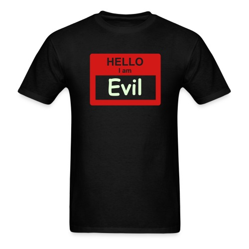 Hello, I'm Evil (glows) - Men's T-Shirt