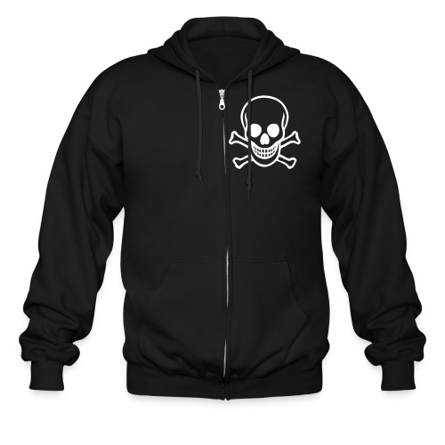 Deluxe Ghostmart Skull n' Bones Hoodie (Big Skull on Back) - Men's Zip Hoodie