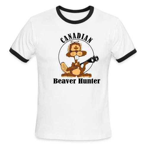Canadian Beaver Hunter - Men's Ringer T-Shirt
