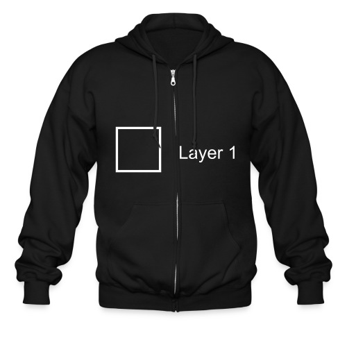 add new layer - Men's Zip Hoodie