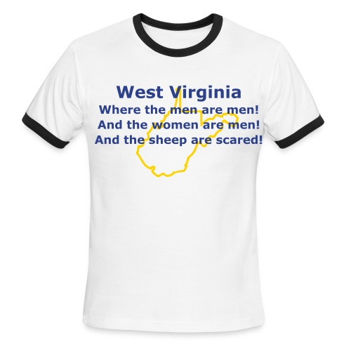 West Virginia! - Men's Ringer T-Shirt