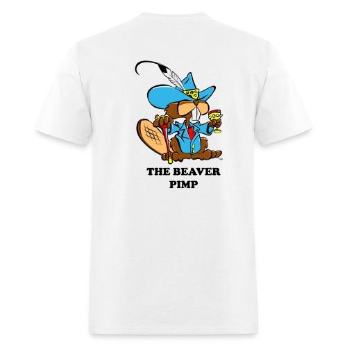 Beaver Pimp on Back - Men's T-Shirt