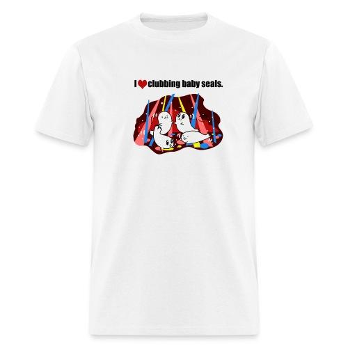 I Love Clubbing Seals - Men's T-Shirt