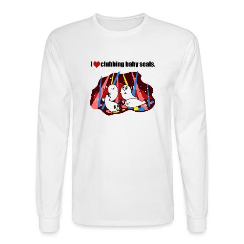 I Love Clubbing Seals - Men's Long Sleeve T-Shirt