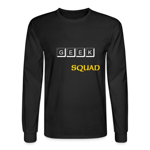 Exclusive Geek Squad Longsleeve Shirts//geeks are back.in black - Men's Long Sleeve T-Shirt