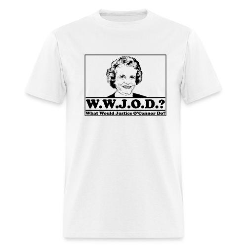 WWJOD? Tee (White) - Men's T-Shirt