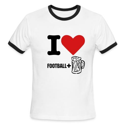 I love Football - Men's Ringer T-Shirt
