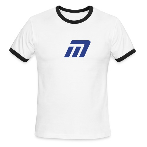 Murray Ringed T-Shirt (white, red, & blue) - Men's Ringer T-Shirt