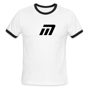 Murray Ringed T-Shirt (white & black) - Men's Ringer T-Shirt