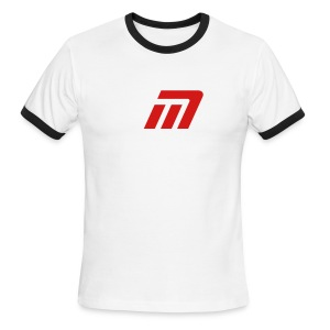 Murray Ringed T-Shirt (white, black, & red) - Men's Ringer T-Shirt