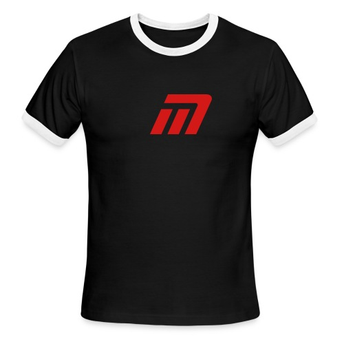 Murray Ringed T-Shirt (black, white, & red) - Men's Ringer T-Shirt
