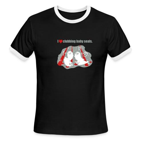 I Love Clubbing Seals - Men's Ringer T-Shirt