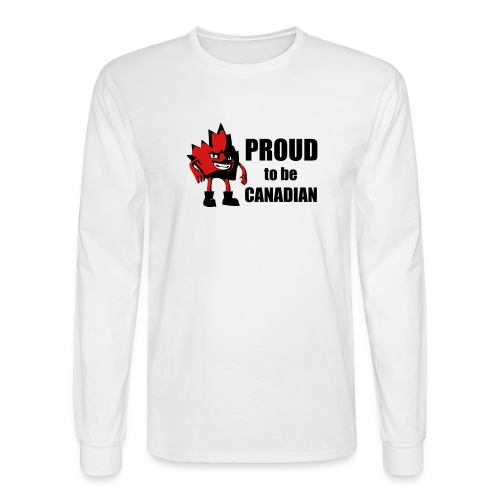 Proud to be Canadian Laef - Men's Long Sleeve T-Shirt