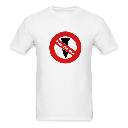Stop the War White Tee - Men's T-Shirt