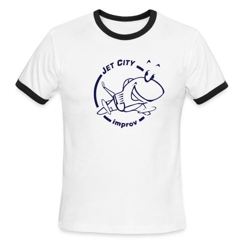 JCI - Blue on Blue Men's Ringer - Men's Ringer T-Shirt