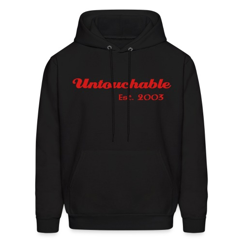 Untouchable Hooded Sweatshirt (Black) - Men's Hoodie