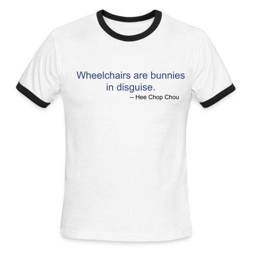 Bunny on Wheels T-shirt - Men's Ringer T-Shirt