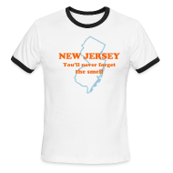 T-Shirts ~ Men's Ringer T-Shirt ~ NEW JERSEY:  You'll never forget the smell
