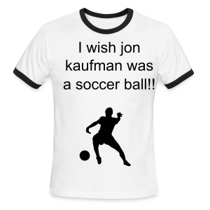 jon jaufman soccer ball - Men's Ringer T-Shirt