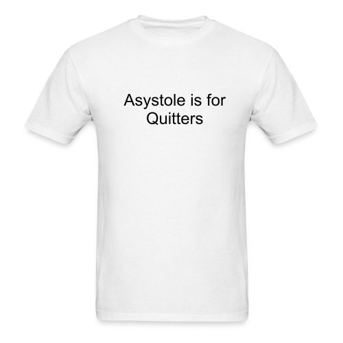 Asystole joke - Men's T-Shirt