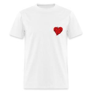 Shot to the heart Male - Men's T-Shirt