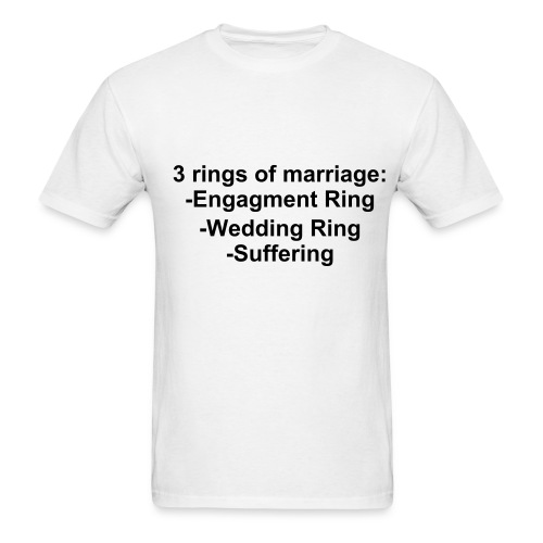 3 marraige rings - Men's T-Shirt