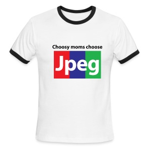 Choosy moms choose Jpeg Ringer - Men's Ringer T-Shirt