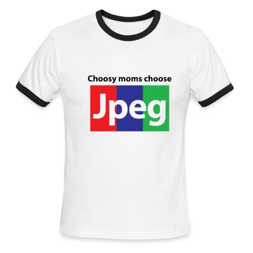 Choosy moms choose Jpeg Ringer - Men's Ringer T-Shirt