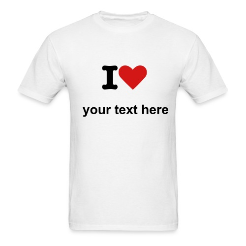I Love ? - Men's T-Shirt