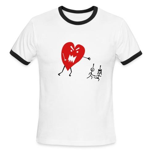 Heart Monster - Men's Ringer T - Men's Ringer T-Shirt