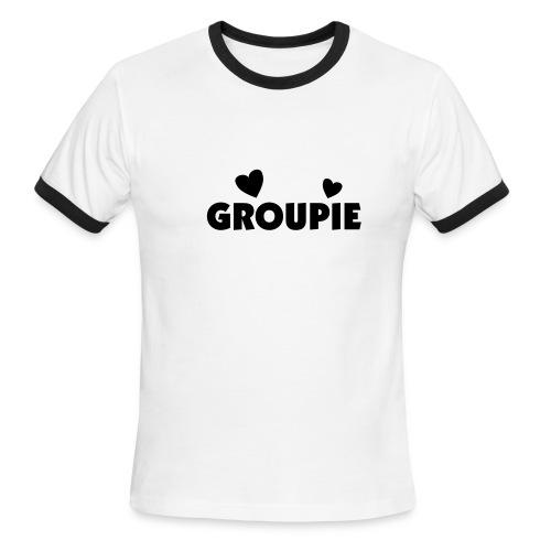 Groupie (Front/Back) - Men's Ringer T-Shirt