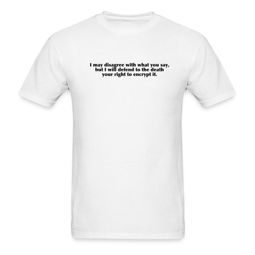 White Encryption Tee - Men's T-Shirt
