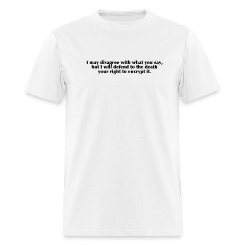 White Encryption Tee - Men's T-Shirt