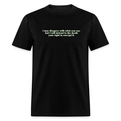 Black Encryption Tee - Men's T-Shirt