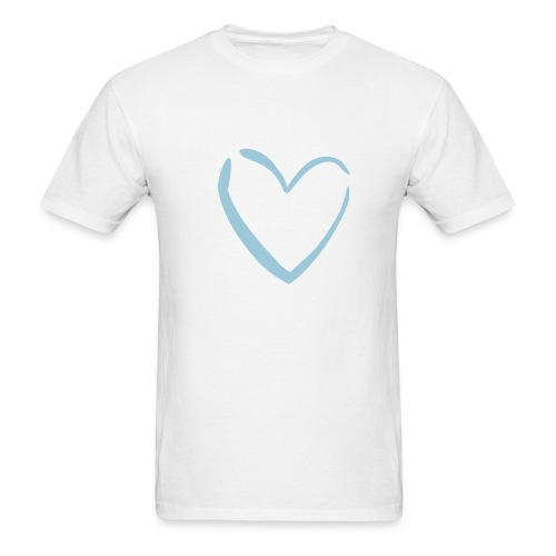 Blue Heart Tee - Men's T-Shirt