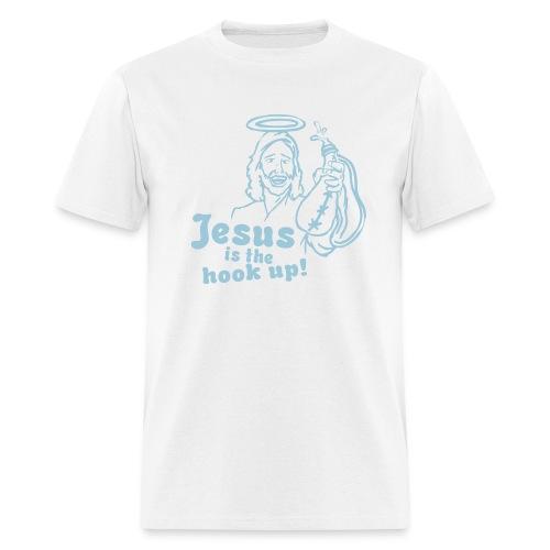 Jesus is the hookup SS white - Men's T-Shirt