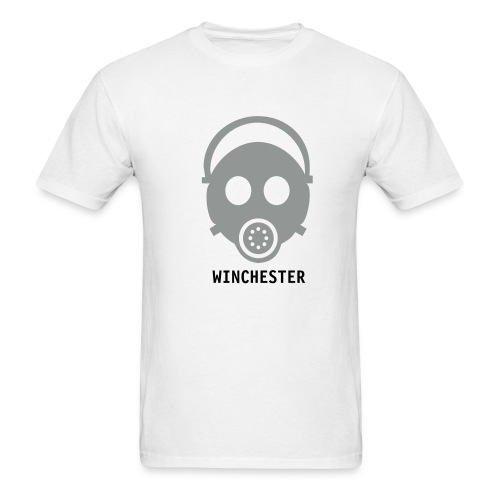 Gas Mask T, Winchester Front - Men's T-Shirt