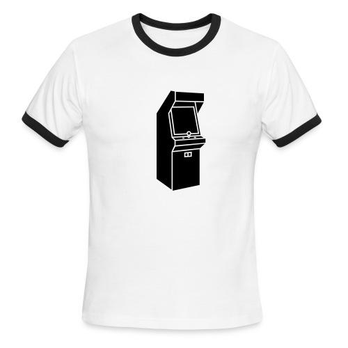 Arcade ringer tee -white/black - Men's Ringer T-Shirt
