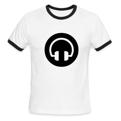 Headphones ringer tee -white/black - Men's Ringer T-Shirt