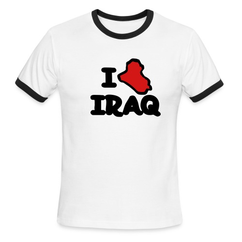 I ? Iraq - Ringer - Men's Ringer T-Shirt
