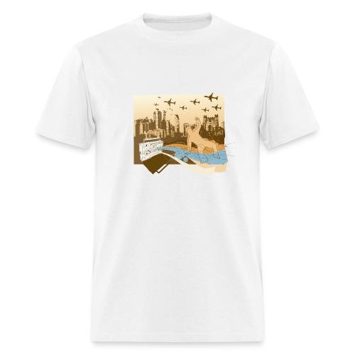 Ghetto Blast tee -white/multi - Men's T-Shirt