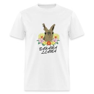 Bahama Llama white - Men's T-Shirt