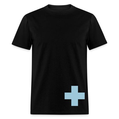 Light Blue Swiss Cross - Men's T-Shirt
