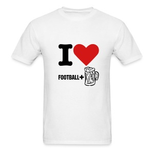 Football and Beer - Men's T-Shirt