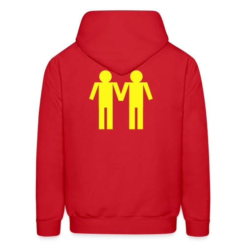 couple rouge - Men's Hoodie