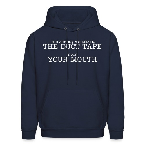 Duct Tape, Mouth - Men's Hoodie