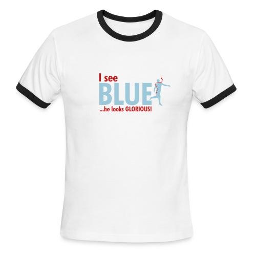 I See BLUE Ringer T shirt - Men's Ringer T-Shirt