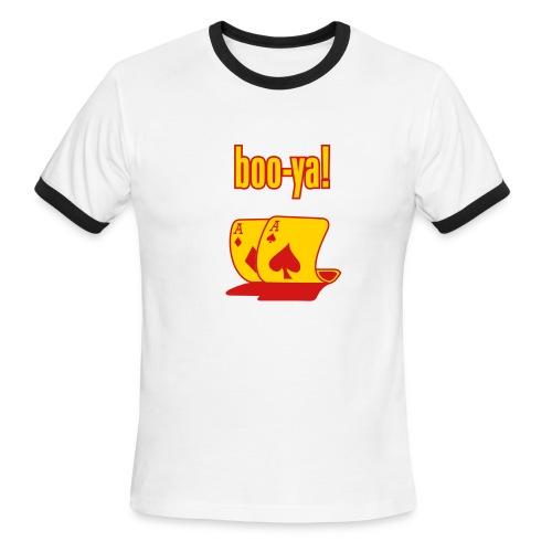 Boo Ya Pocket Aces Ringer T shirt - Men's Ringer T-Shirt
